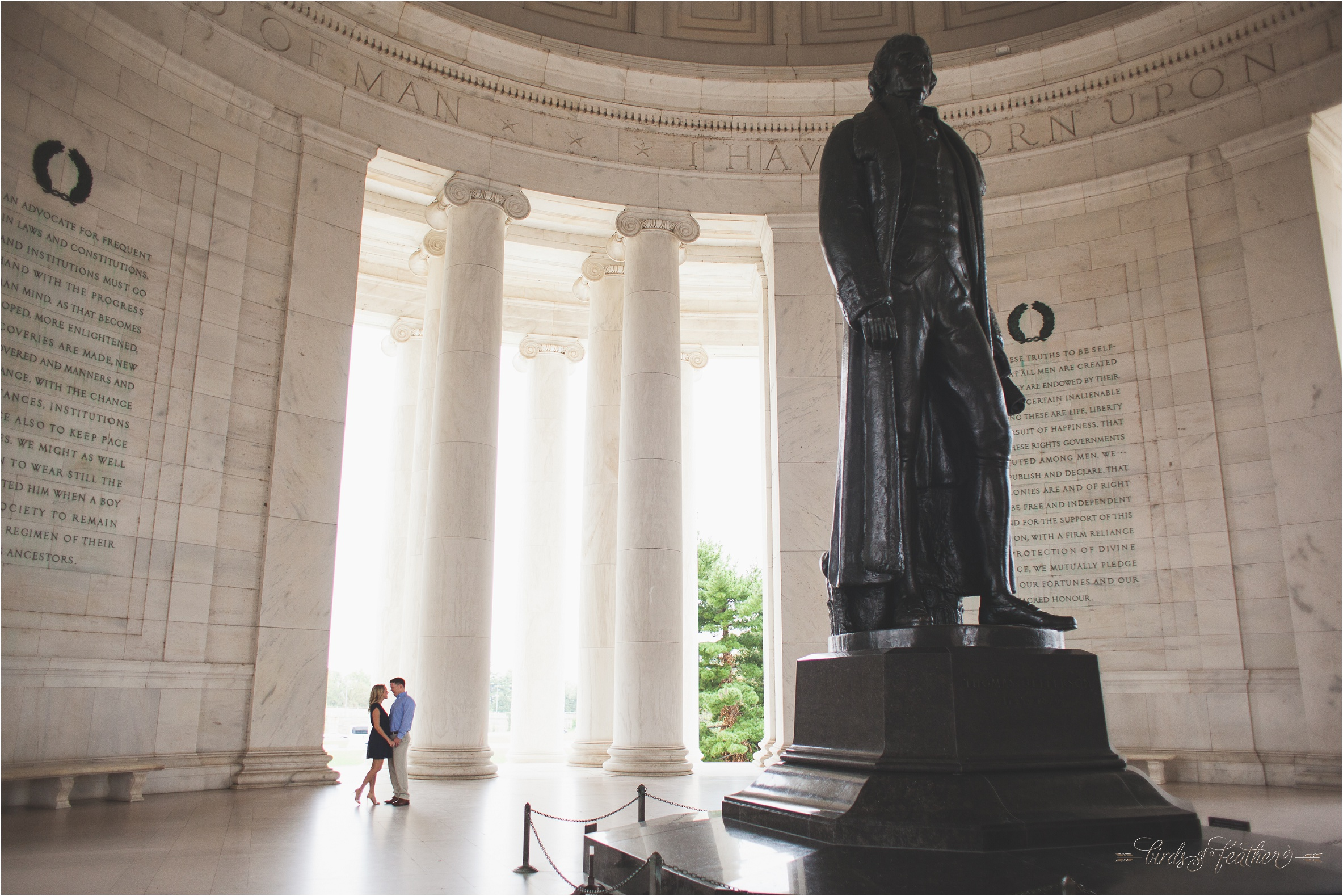 D.C. Engagement Session – Jefferson Memorial, Lincoln Memorial – Photography by Birds of a Feather  Photography